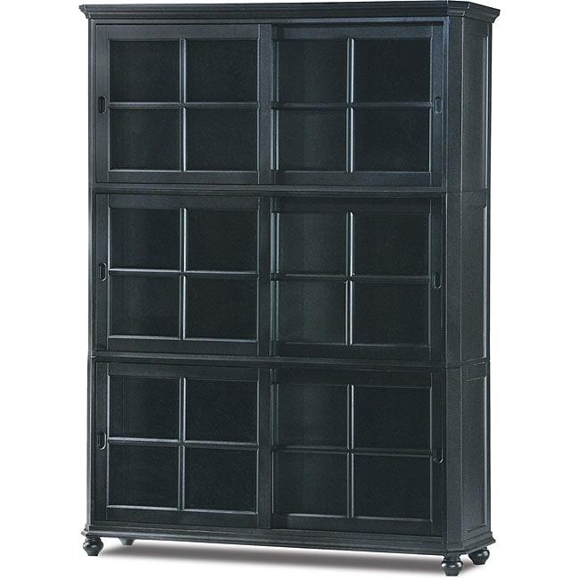 tribeca black bookcase overstock shopping great deals on media bookshelves