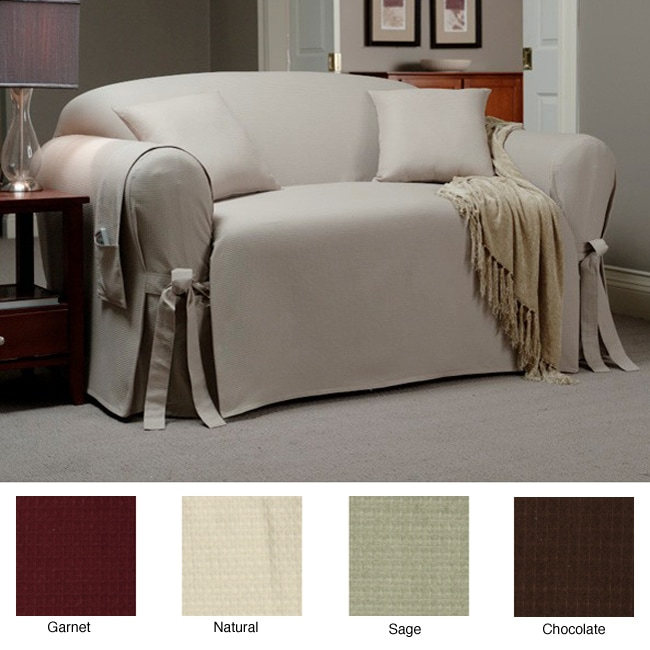 Sofa Slipcover With Matching Pillows And Throw Overstock