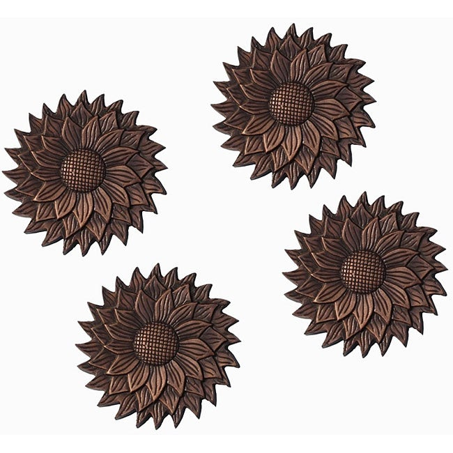 Flower Wall Decor/ Stepping Stone (Set of 4)