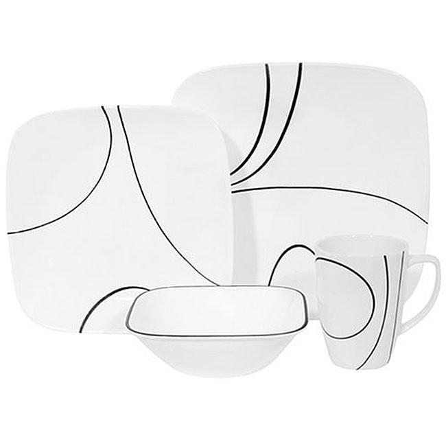 Corelle Square Simple Lines 16-piece Set