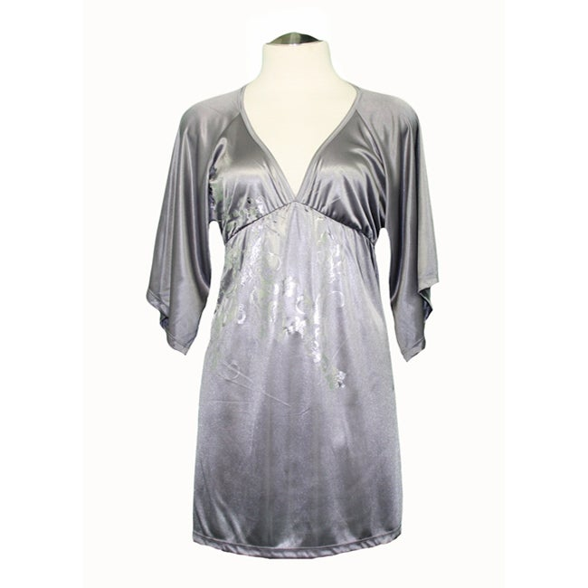 Voll USA Junior's Silver Babydoll Top
