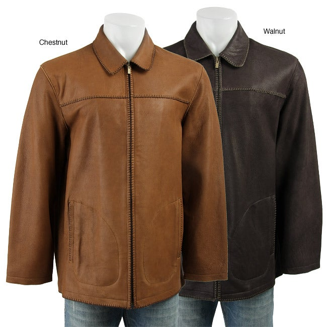 Robert Comstock Men's 'Expedition' Leather Jacket
