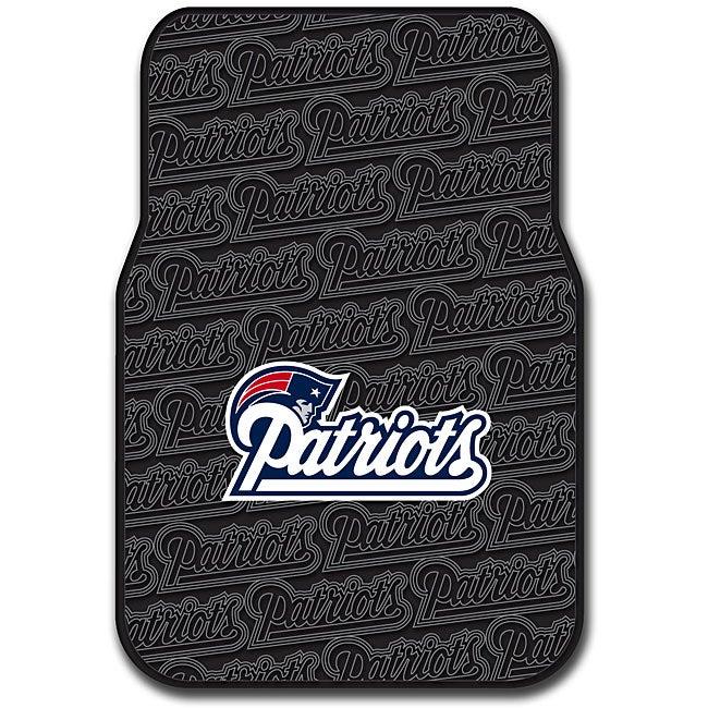 New England Patriots 2-piece Front Floor Car Mat Set