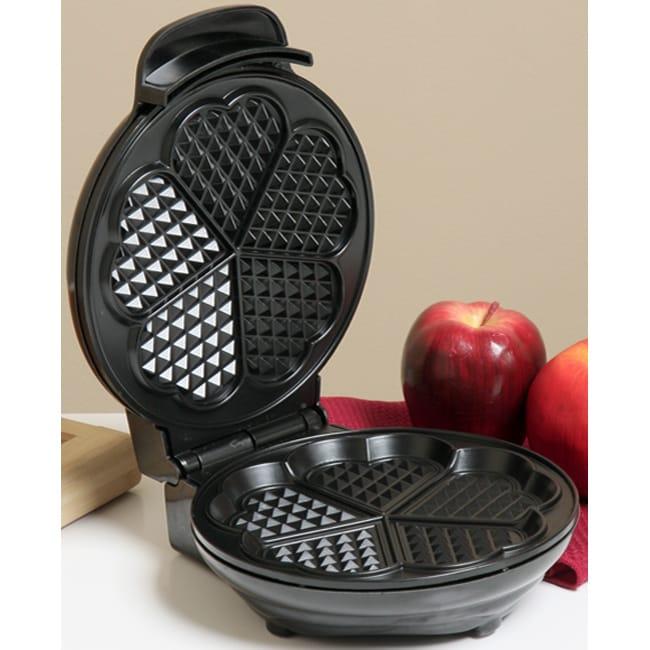 Kalorik Black Heart-shaped Waffle Maker