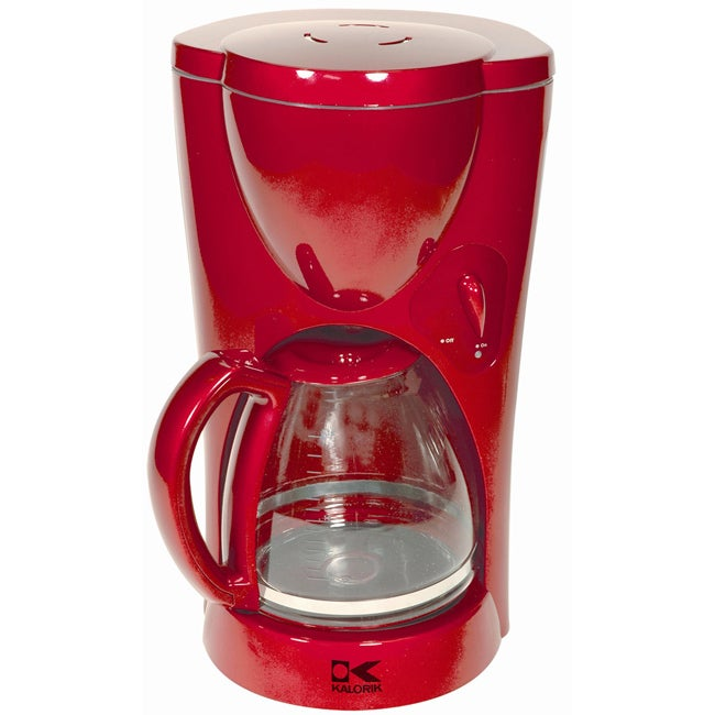 Coffee Maker Jar : Kalorik Red Coffee Maker with Glass Jar - 11544796 - Overstock.com Shopping - Great Deals on ...