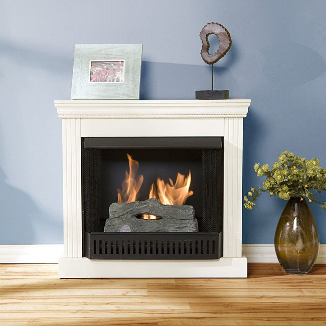 Avery Antique White Gel Fuel Fireplace 11549147 Shopping