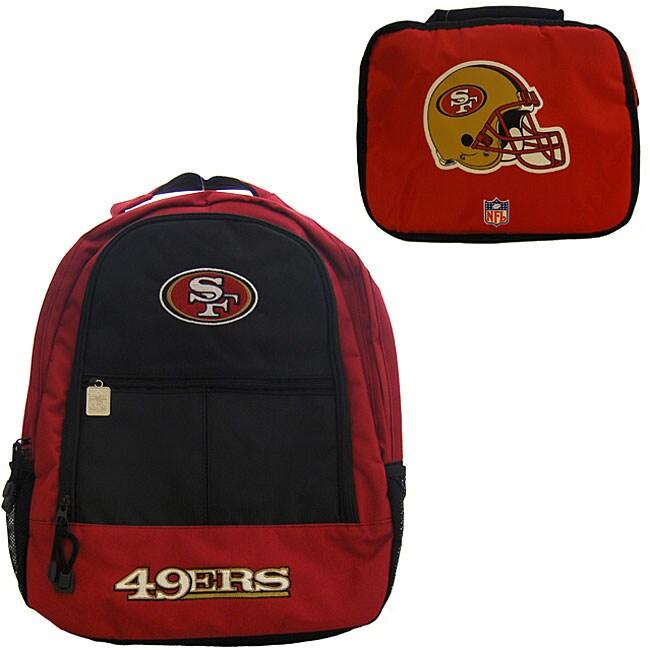 San Francisco 49ers Backpack/ Lunchbox Combo