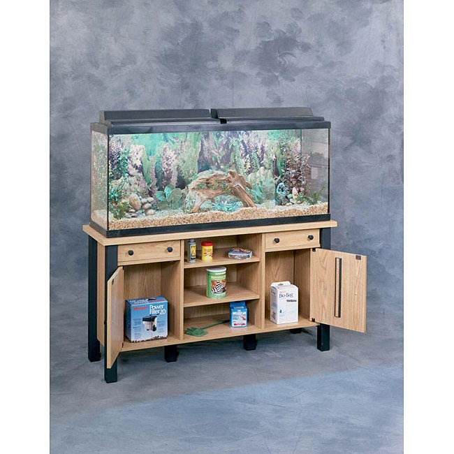 55 gallon aquarium stand 11555553 for Double fish tank stand
