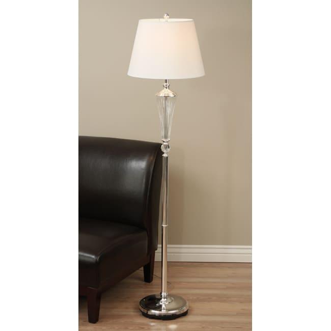 Crystal base floor lamp overstocktm shopping great for Overstock chandelier floor lamp