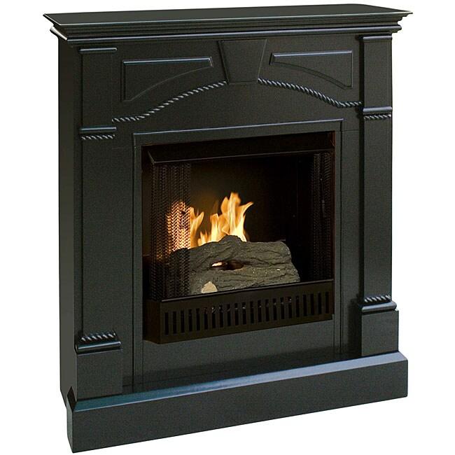 Macon Black Gel Fuel Fireplace 11558761 Shopping Great Deals On Indoor