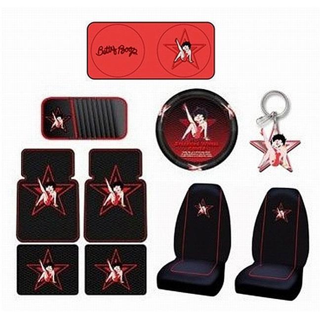 Betty Boop Rock Star 10-piece Auto Accessories Set