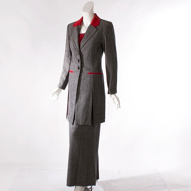 Audrey B Women's Long Suit Coat and Pant Set
