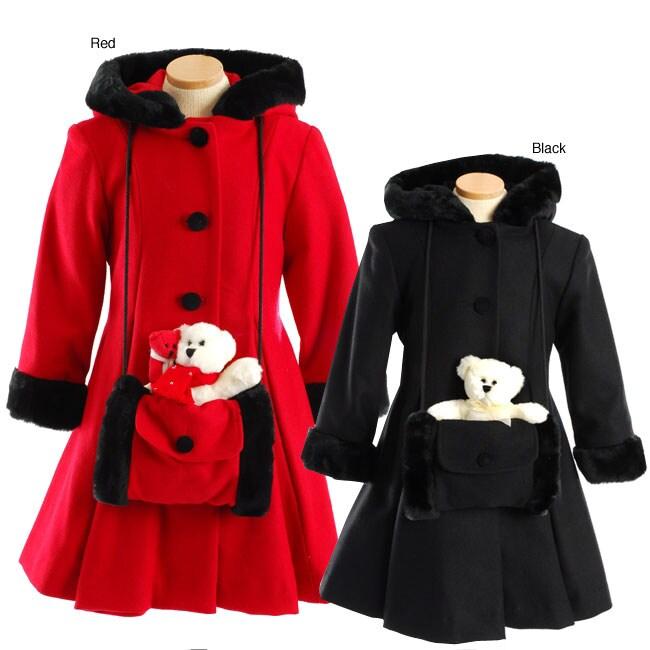 Trilogi Collection Girl's Dressy Swing Coat