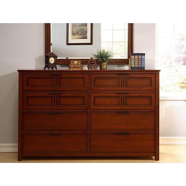 Cherry Mission-style 8-drawer Dresser