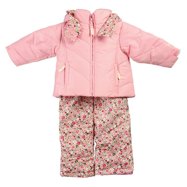 Oshkosh Infant Girl's Pink Snowsuit