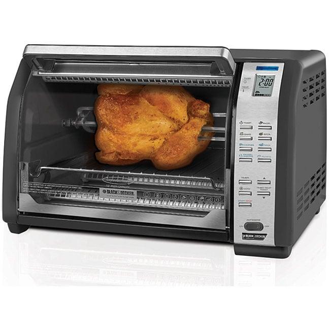 Countertop Convection Oven Black And Decker : Black and Decker 9-slice Rotisserie Convection Oven