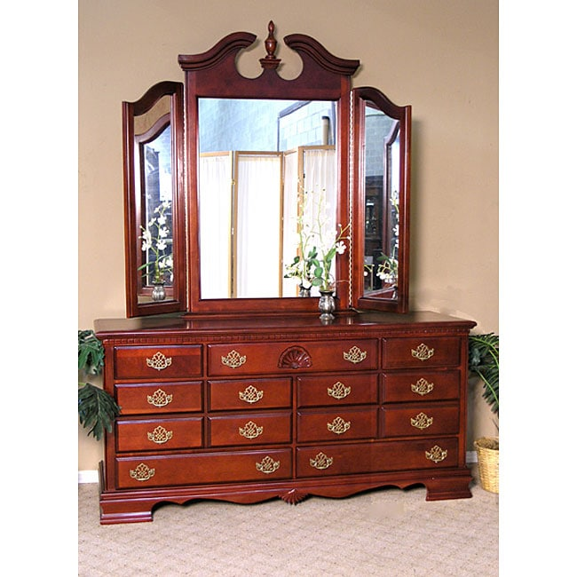 traditional queen ann cherry dresser 11578674
