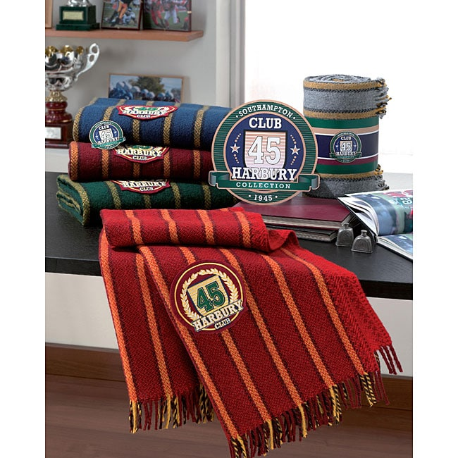 Italian Made Oversized Collegiate Striped Throw