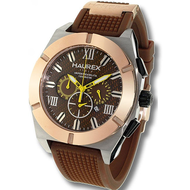 Haurex italy challenger men 39 s chronograph watch model 3d305ucm 11580865 for Haurex watches