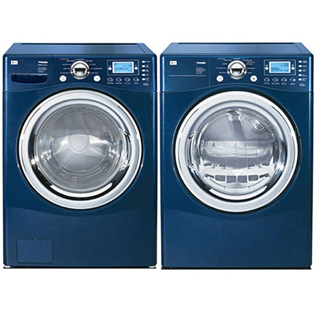 Lg Front Load Blue Steam Washer And Gas Dryer Combo