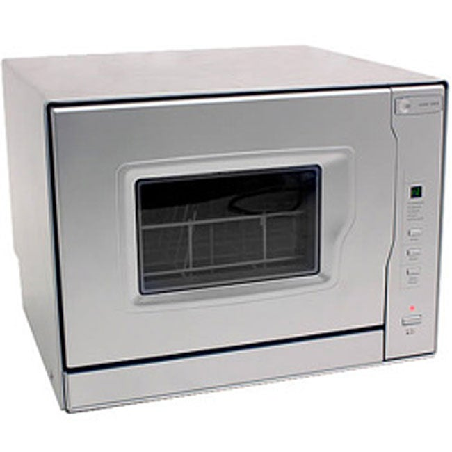 Countertop Dishwasher Overstock : EdgeStar Silver Portable Countertop Dishwasher - 11587630 - Overstock ...