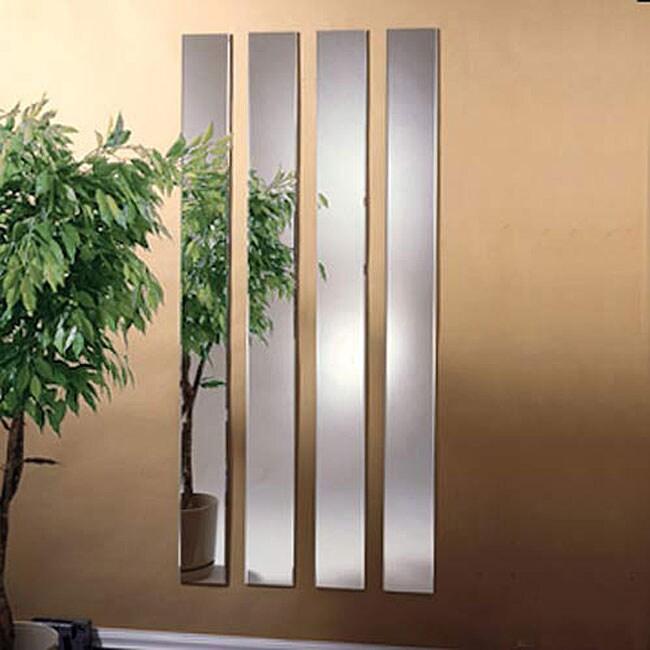 Bevelled 6 x 60 Mirror Strips (Set of 4)