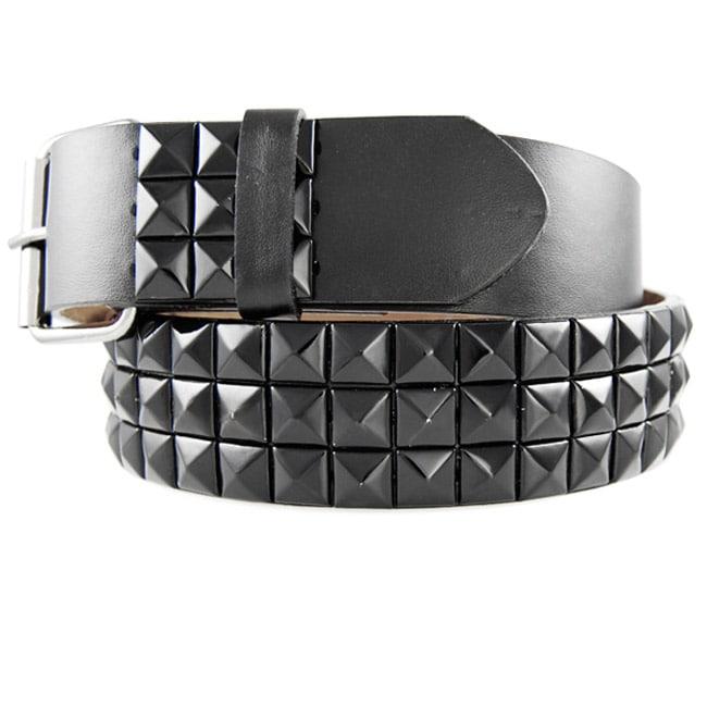 JK Unisex 3-row Studded Belt