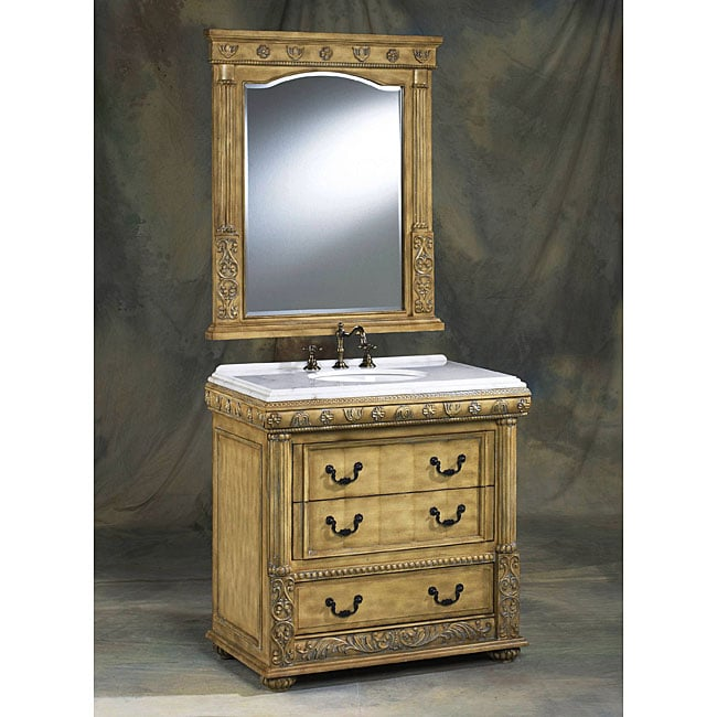 legion furniture 24 inch white single sink bathroom vanity with mirror