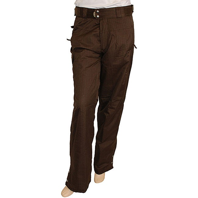 Pulse Women's Brown Pinstripe Snowboard Pants