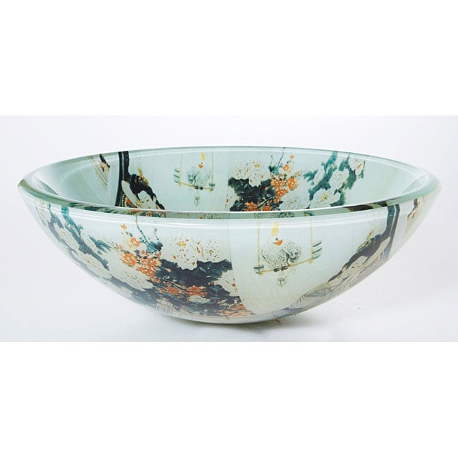 DeNovo Japanese Art Glass Bathroom Vessel Sink - 11603755
