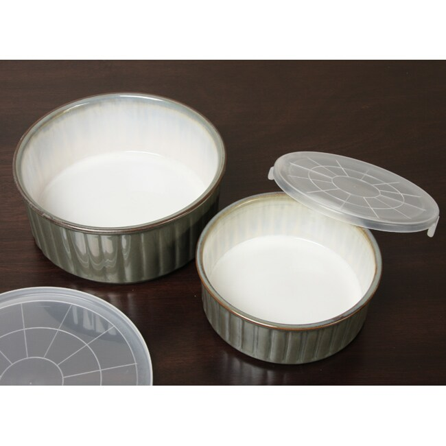 Sango Concepts Avocado 2-piece Storage Bowl Set