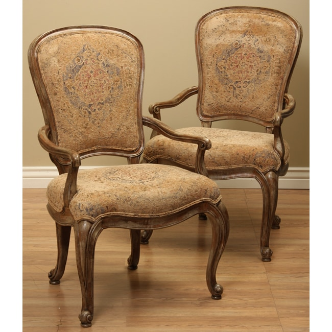 Thomasville Dining Fusion Upholstered Arm Chairs Set Of 2 11607866 Over