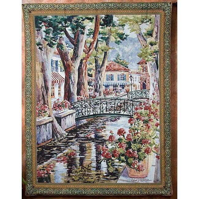 Erin Dertner 'French Country Village' Art Tapestry
