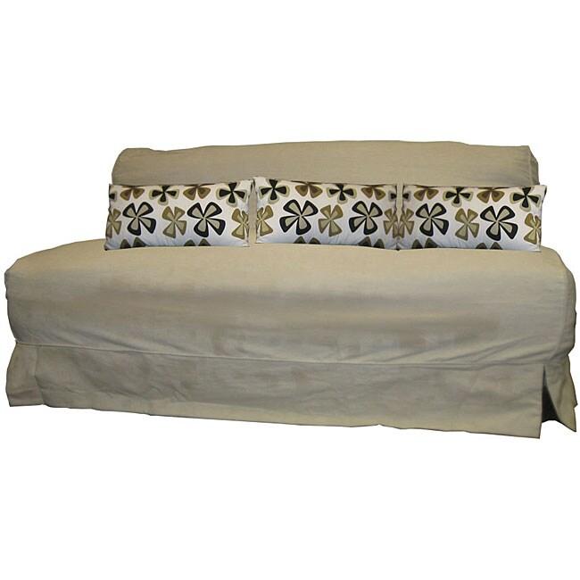 Stella King-size Futon Sofa with Khaki Cover