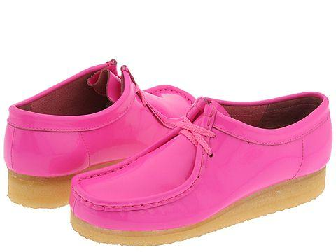 Clarks Wallabee - Womens Bright Pink Patent Leather