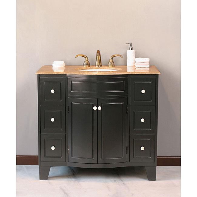 Milani 40 inch single sink bathroom vanity 11613865 shopping great deals on for Bathroom vanities overstock com