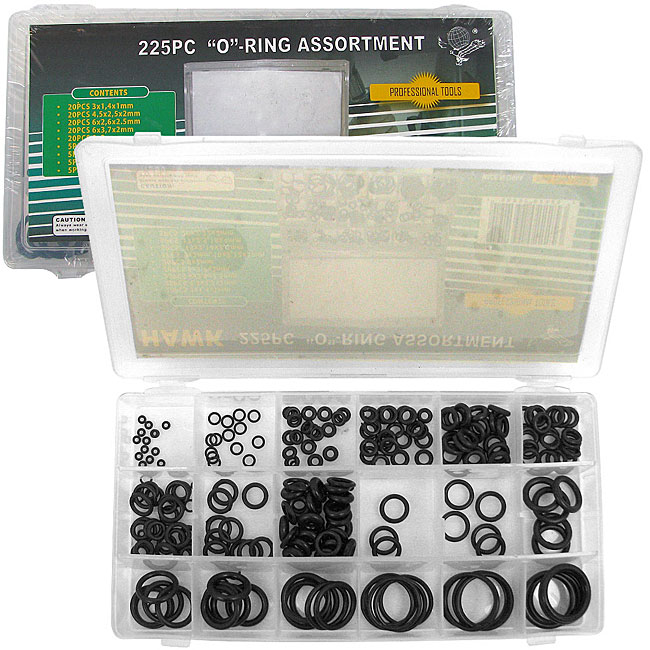 225-piece O-ring Assortment Set