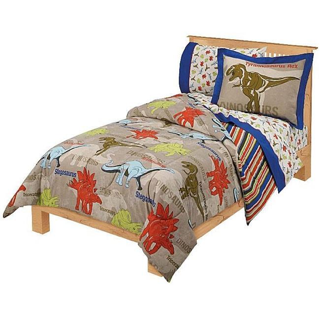 Dinosaur age twin size bedding ensemble 11629380 overstock com