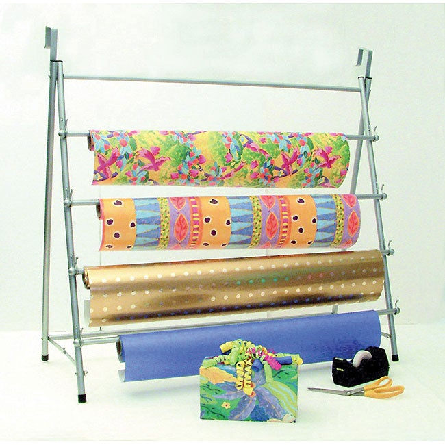 Metal Over-the-door/ Stand-up Wrapping Paper Rack