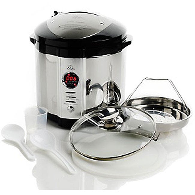 Wolfgang puck 7 quart 4 in 1 pressure cooker with wp for Wolfgang puck pressure oven