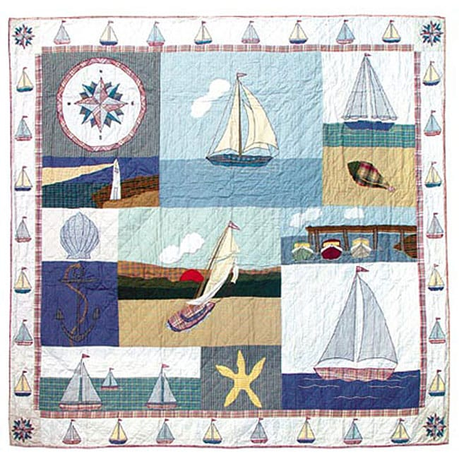 Nautical King Size Quilt 11711966 Overstock Com