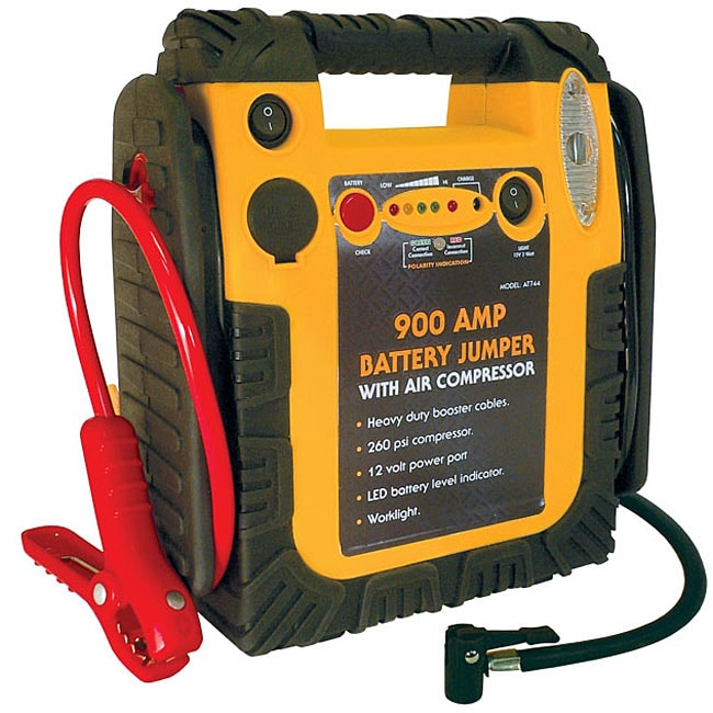 Automobile 900-amp Battery Jumper with Air Compressor