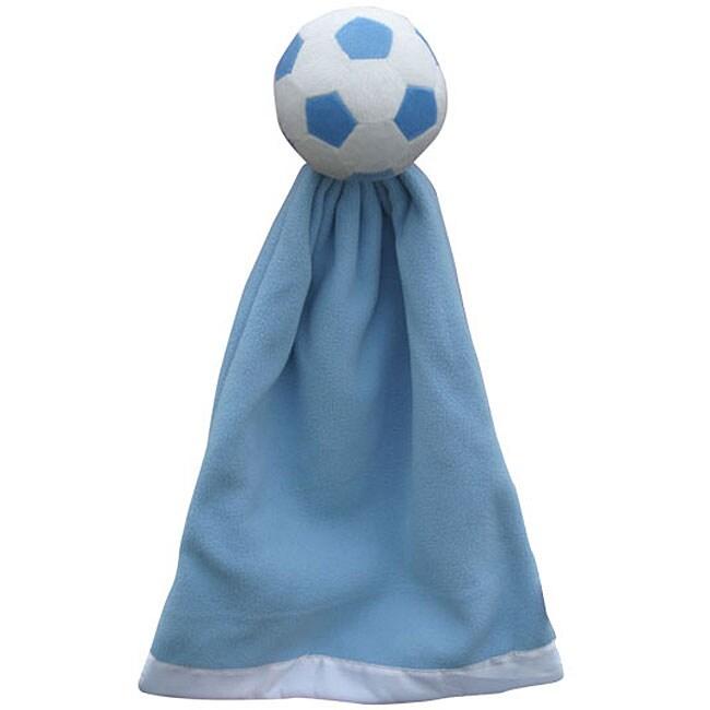 Generic Blue Polyester Soccer Snuggleball and Fleece Blanket
