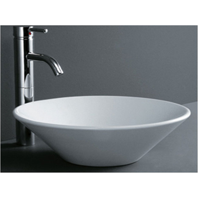 Round Cone Porcelain Bathroom Vessel Sink