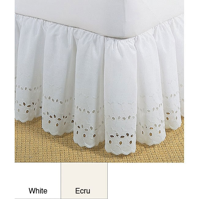 AT HOME by O Ruffled Lauren Eyelet 18-inch Bedskirt at Sears.com