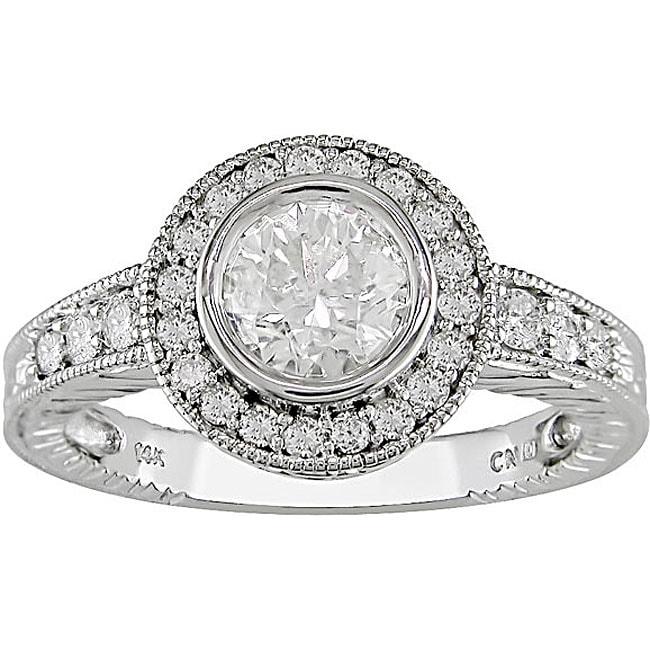 Miadora 14k Gold 1 3/8ct TDW Diamond Vintage-style Ring (I-J, I1-I2)