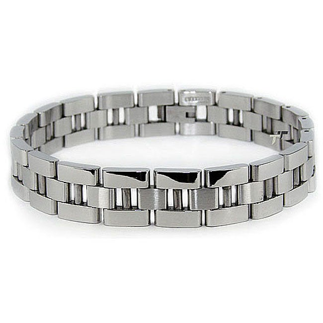 Stainless Steel Men's Polished Link Bracelet