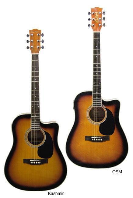 Full-size Thin-Body Acoustic/ Electric Guitar