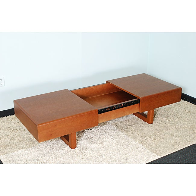 Light cherry wood coffee table overstock shopping great deals on matrix coffee sofa end Cherry wood coffee tables