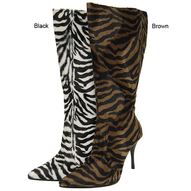 Liliana by Adi Women's Zebra Print Boots